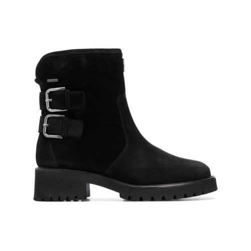 Imagem de Hogl Ankle boot de camurça e couro com fivela - Preto