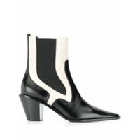 Casadei Ankle Boot Color Block - Preto