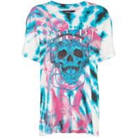 Amiri Camiseta Tie-Dye Com Estampa De Caveira - Azul