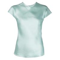 Helmut Lang Camiseta De Cetim - Azul