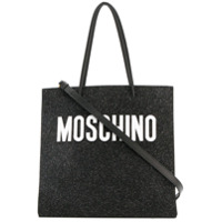 Moschino Bolsa Tote Com Logo Estampado - Preto
