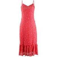 Michael Michael Kors Vestido Midi Com Renda Floral - Laranja