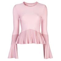 Jonathan Simkhai Suéter Metalizado Plissado - Rosa