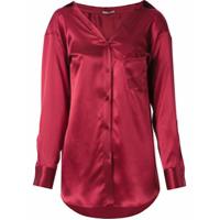 Martha Medeiros Camisa De Seda - Vermelho