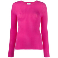 Ami Paris Camiseta Decote Careca De Tricô - Rosa