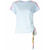 Mira Mikati Camiseta Com Lista Lateral - Azul