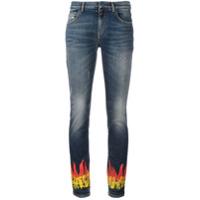 Faith Connexion Calça Jeans Skinny Com Estampa - Azul