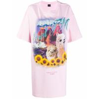 Cool T.m Camiseta Mangas Curtas Com Estampa Gráfica - Rosa