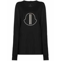 Moncler + Rick Owens Camiseta Com Estampa De Logo - Preto