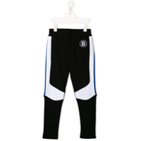 Balmain Kids Calça esportiva com recortes contrastantes - Preto - FarFetch BR