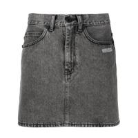 Off-White Saia Jeans Com Estampa De Logo - Preto