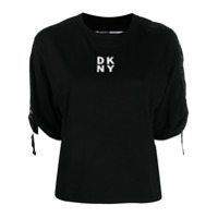 Dkny Boxy Logo Tape T-Shirt - Preto