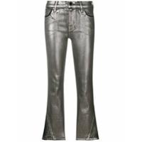 J Brand Calça Jeans Cropped Flare '3 Foiled' - Cinza
