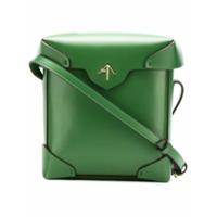 Manu Atelier Bolsa Transversal 'pristine' Mini De Couro - Verde
