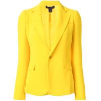 Ralph Lauren Collection Blazer Alfaiataria Com Abotoamento Simples - Amarelo