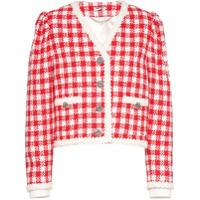 Miu Miu Jaqueta De Tweed Xadrez - Vermelho