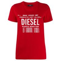 Diesel Camiseta Com Estampa De Logo Desbotado - Vermelho