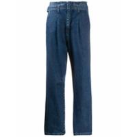 Federica Tosi Calça Jeans Cintura Alta Com Cinto - Azul