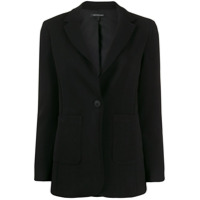 Armani Exchange Fitted Single-Breasted Blazer - Preto
