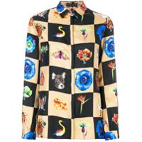 Etro Camisa De Seda Estampada - Estampado