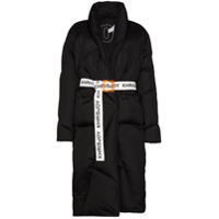 Khrisjoy Casaco Robe Matelassê Com Cinto - Preto
