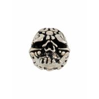 Duffy Jewellery Anel Com Caveiro - Prateado