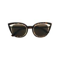 Face À Face Óculos De Sol Tartaruga - Marrom
