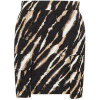 House Of Holland Minissaia Tie Dye Com Estampa De Zebra - Zebra (Black/white)