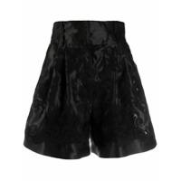 Dolce & Gabbana Short Cintura Alta De Jacquard - Preto