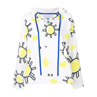 Mira Mikati Blusa De Moletom Com Estampa Sun Doodle - Branco