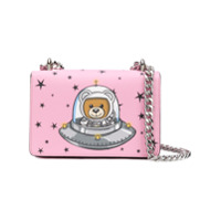 Moschino Bolsa Transversal 'space Teddy' Mini - Rosa