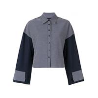 Jour/né Camisa Xadrez Mangas Amplas - Azul