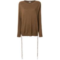 P.a.r.o.s.h. Suéter Com Amarração - Marrom
