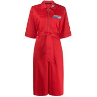 Frankie Morello Shirt Cropped Jumpsuit - Vermelho