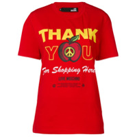 Love Moschino 'thank You For Shopping Here' Printed T-Shirt - Vermelho