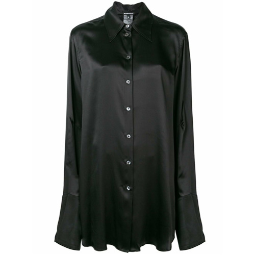 Image of Ann Demeulemeester pointed collar shirt - Preto