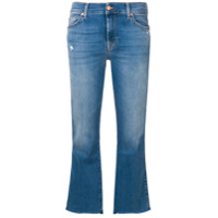 7 For All Mankind Cropped Flared Trousers - Azul