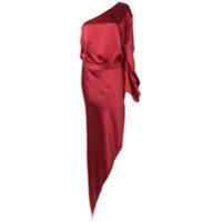 Michelle Mason Vestido Assimétrico De Seda - Vermelho