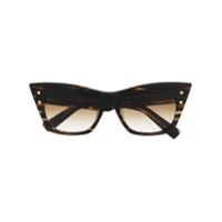 Balmain Eyewear Óculos De Sol Gatinho B-Ii - Marrom