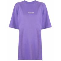 Ader Error Oversized Fit T-Shirt - Roxo