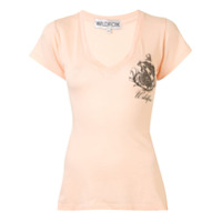Wildfox Camiseta Com Patch De Logo - Laranja