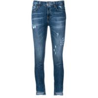 Frankie Morello Calça Jeans Skinny Com Detalhes Puídos - Azul
