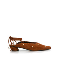 Reike Nen Lace Up Mules - Marrom