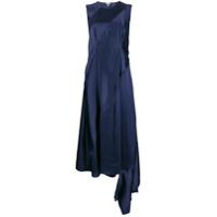 Loewe Vestido Assimétrico Com Recortes - Azul