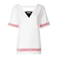 Jw Anderson Camiseta Modelagem Solta Em Linho - Branco
