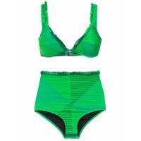 Amir Slama Biquíni Hot Pants Estampado - Verde