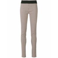 Stella Mccartney Calça Legging Com Recorte Xadrez - Colorido