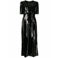 Saloni Vestido Com Paetês - Preto