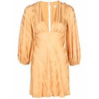 Shona Joy Vestido Com Mangas Bufantes Daisy - Dourado