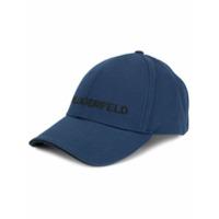 Karl Lagerfeld Boné Com Logo Bordado - Azul